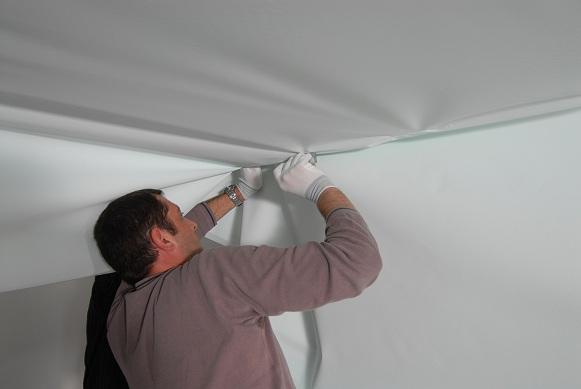 Тканевые натяжные потолки установка